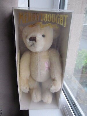 Large 13 inch mohair Merrythought growling bear Breast Cancer limited edition