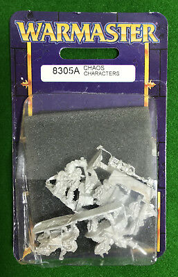 Warmaster CHAOS CHARACTERS, Games Workshop, BNIB, Blister Pack 1999 [1] RARE