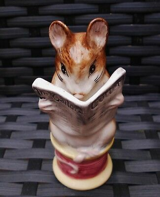 Beswick Beatrix Potter Vintage Tailor Of Gloucester Mouse Gold Oval Bp2