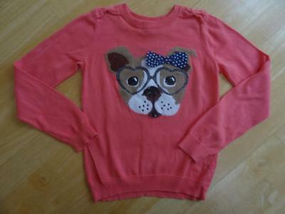 TU girls pink dog pattern knitted sweater jumper AGE 9 YEARS EXCELLENT