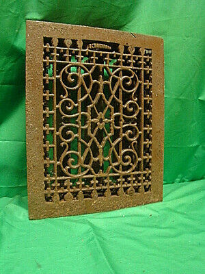 Antique Late 1800's Cast Iron Heating Grate Unique Ornate Design 13.75 X 11 Kjb