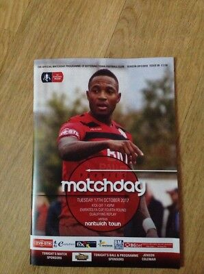 17/10/2017.  . Kettering Town V    Nantwich Town.  Fac Replay