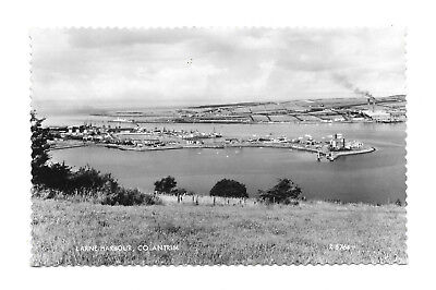 Larne - Harbour - Old Real Photo Postcard - Co. Antrim, Northern Ireland