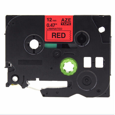 Black on Red Label Tape Compatible for Brother TZ 231 TZe 231 P-Touch Practical