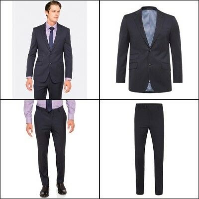 New Oxford MARLOWE SUIT JACKET GUNMETAL X WITH MATCHING TROUSERS