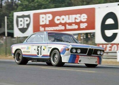 Toine Hezemans, 1973 Le Mans, BMW 3.0CSL, 10 x 8 Unmtd Photo