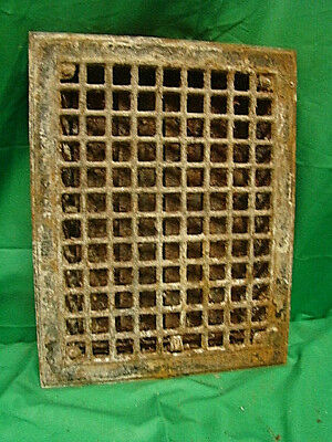 Antique Iron Heating Vent Grate Square Design 14 X 11  Hjf