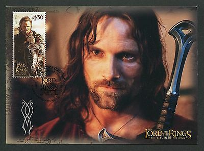 NZ MK HERR DER RINGE / LORD OF THE RINGS ARAGORN CARTE MAXIMUM CARD MC CM m126