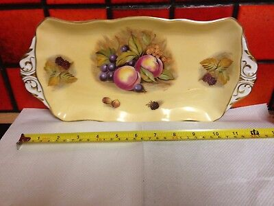 """Aynsley China Orchard Gold 12"""" Sandwich Plate"""