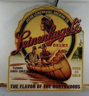Leinenkugel Brewing co. Large Tin Sign North woods 40'' Tall by 35'' wide