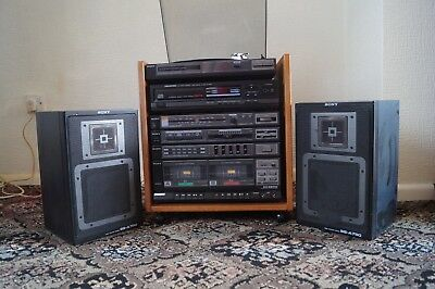 Sony Record Player - Tuner - Tape Deck - Hi-Fi Stereo System - Vintage - Retro
