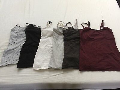 Bundle of 8 x H&M nursing / breastfeeding vest tops size small