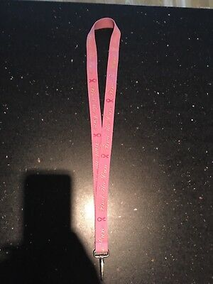 Pink 'Find the Cure' Lanyard