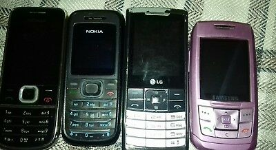 Mobile Phone Joblot Nokia 2700 1208 LG S310 Samsung E250 untested no chargers