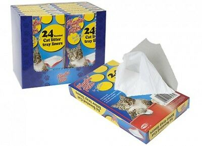 24 Quality Scented Fragranced Cat/Pet Litter Tray Liners Disposable Bags Sheets