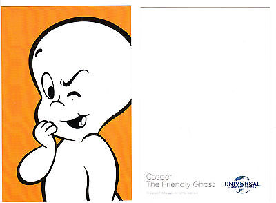 """2017 Universal Casper The Friendly Ghost Promotional Promo Card 4"""" X 6"""""""