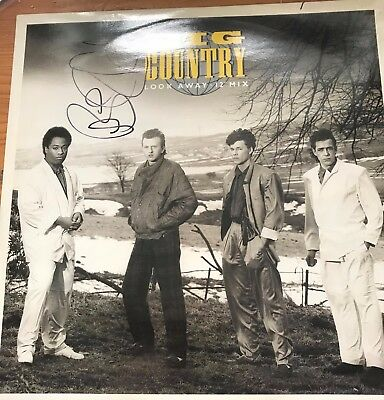 "Big Country - Look Away SIGNED 12"" vinyl"