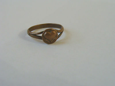 Medieval Ring Bronze. Love With The Heart.