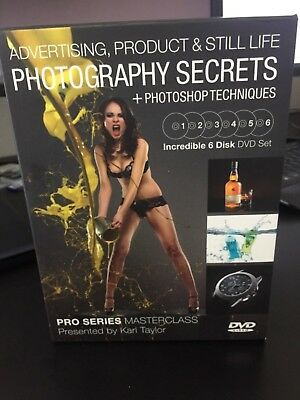 Karl Taylor Advertising, Product & Still Life Photography Instructional DVD 6 dv