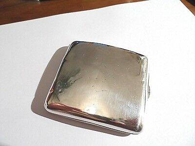 Beautiful Heavy Antique Solid Silver Cigarette Case Scrap/Use/Repair c1905-87.3g