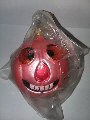 West Germany Pumpkin Jack O Lantern Ornament Sealed Halloween