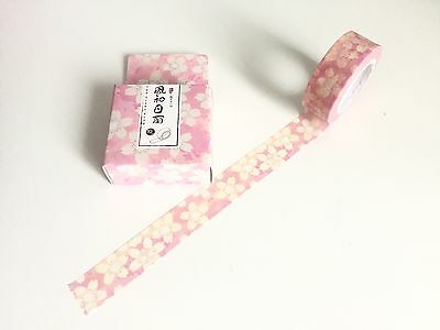Pink Flowers Boxed Washi Tape 10m