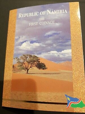 Namibia KMS 1993 First Official Coinage im Folder st