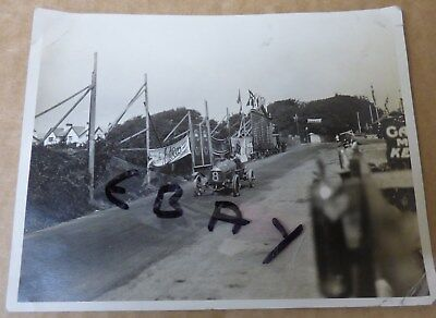 Rare Photograph 1914 Tourist Trophy Race Isle Of Man Wo Bentley Dfp Speed Model