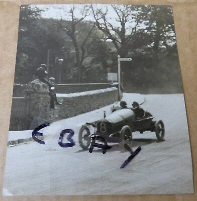 Rare Photograph Tourist Trophy 1914 Race Isle Of Man Wo Bentley Speed Model Dfp