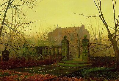 Autumn Morning Painting by John Atkinson Grimshaw Art Reproduction