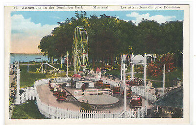 FMRA MONTREAL CANADA ATTRACTIONS IN THE DOMINION PARK POSTCARD sg763