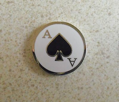 1 only ACE OF SPADES GOLF BALL MARKER approx 23mm