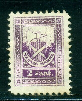 Latvia Court Fees Revenue: 2s Violet MH SEE SCAN $$$
