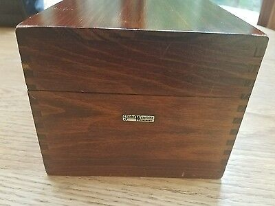 Vintage GLOBE WERNICKE Card File Dovetail WOOD BOX