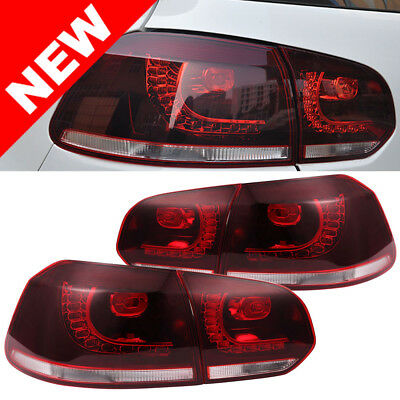 10-14 VW MK6 Golf/GTI R LED Taillights - Error Free Plug and Play- Dark Cherry