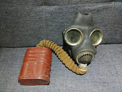 World War 2 gas mask with Filter.  Fair Condition given nearly 80 years old.
