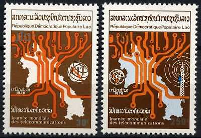 Laos 1979 SG#464-5 Telecommunications Day MNH Set #D58978