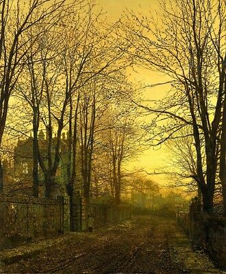 October Afterglow Painting by John Atkinson Grimshaw Art Reproduction