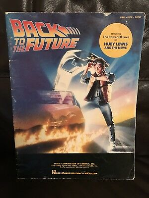 Back To The Future Vintage Sheet Music Book Movie Soundtrack 1985 RARE