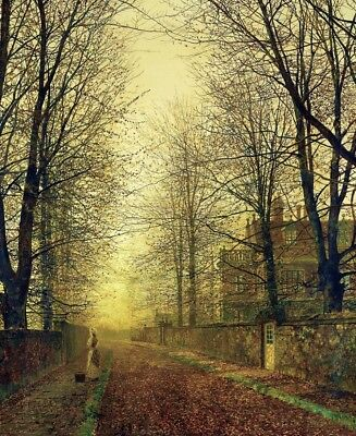 In Autumn's Golden Glow Painting by John Atkinson Grimshaw Art Reproduction