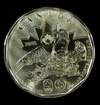 Canada  Rio Olympics lucky 2016 (loonie)   $1 dollar coin UNC from roll
