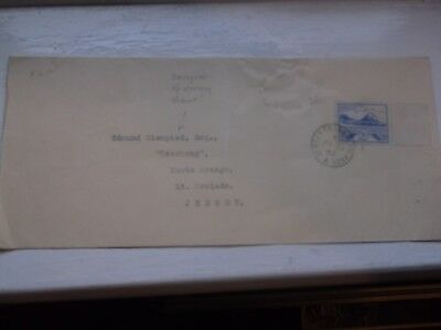 Jersey War Issue 2 1/2d stamp on BLAMPIED ENVELOPE 29/06/1943