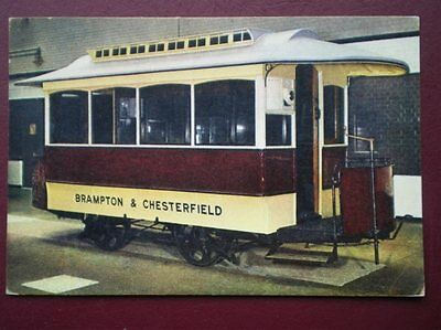 Postcard Chesterfield Corporation Horse Tram