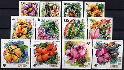 Guinea 1974 SG#846-857 Flowers MNH Imperf Set #D58998