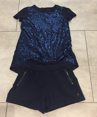 Ted Baker girls sequin top and shorts 5-6 years