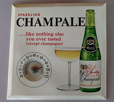 Vintage Sparkling Extra Dry Champale Thermometer Advertising Sign
