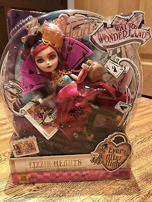 "Brand New Ever After High ""lizzie Hearts"" Way To Wonderland! Queen Of Hearts!"