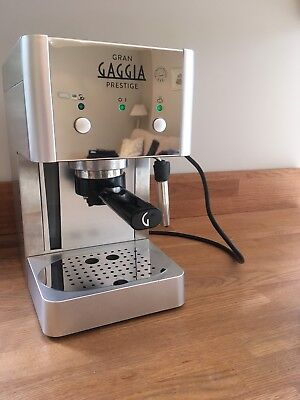 Gaggia Gran Prestige Manual Espresso Coffee Machine, 15bar Stainless Steel Fault