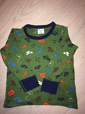 Polarn O Pyret Long Sleeve All over cowboy print T-Shirt Age 1.5 - 2 years