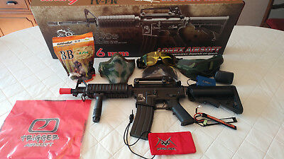 Lonex Airsoft M4A1 BB Gun plus Mask, Goggles and Charger
